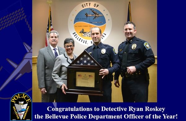 Detective Ryan Roskey Recognized as Bellevue Police Department's  Officer of the Year