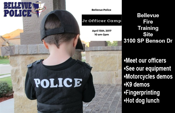 Bellevue Police Department to Host Junior Officer Camp on Saturday, April 15th