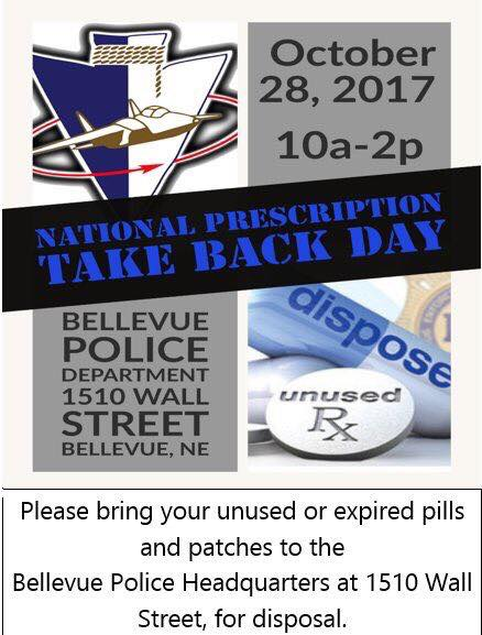 National Prescription Take Back Day is Saturday, October 28th