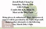 "Bellevue Parks Department Hosting ""Park Clean Up Day"" at Jewel Park on Saturday, March 19th"