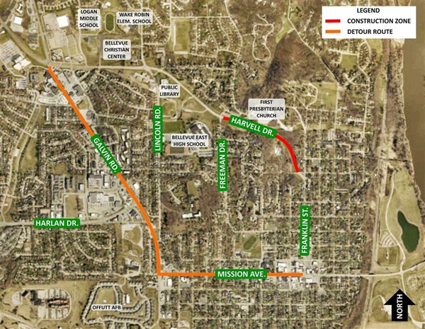 Cold Weather Forces Delay of Last Stage of Harvell Drive Project