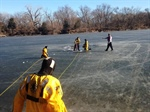 Bellevue Fire Department Performs Ice Rescue Training