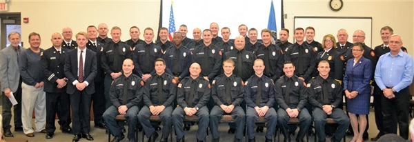 Bellevue Fire Department Presents Badges to 25 Full-time Fire Fighters
