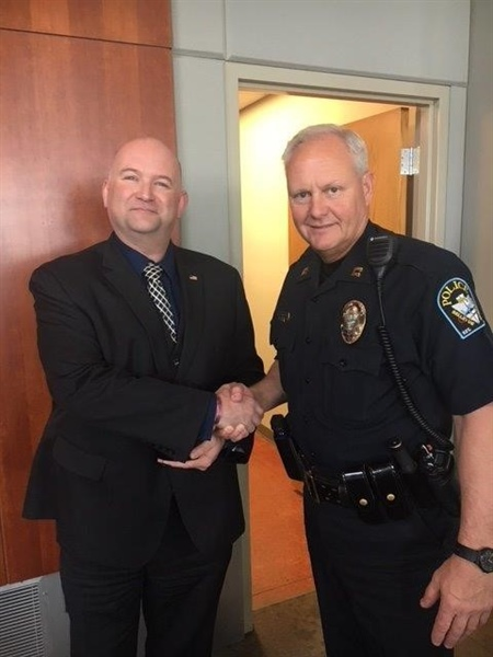 Detective Michael Holm is Recognized as Sarpy County Crimestoppers Officer of the Year from the Bellevue Police Department