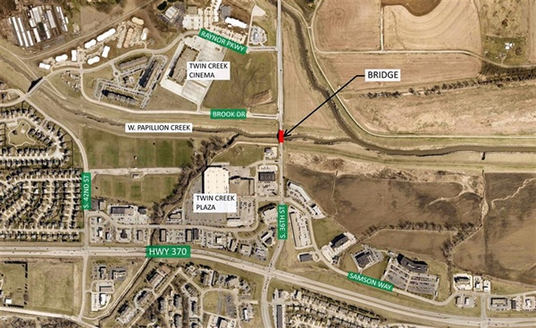36th Street Bridge over West Papillion Creek to be Closed in Mid-July for Repairs