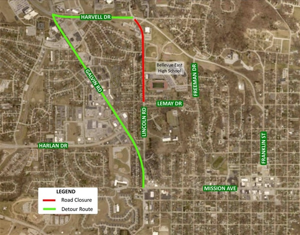 Section of Lincoln Road, from West 16th Avenue to Harvell Drive, will be closed on Friday, August 3rd and the Morning of Saturday, August 4th
