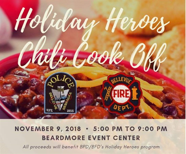 "Holiday Heroes ""Shop With a Cop"" Chili Cook Off is Friday, November 9th at the Beardmore Event Center"