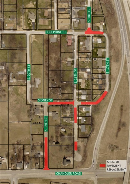 Bellevue Public Works Department to Conduct Pavement Improvement Project North of Chandler Road Near Chandler Hills Area