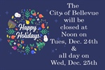 City of Bellevue Holiday Hours and Trash Pickup Schedule