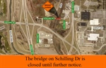 Bridge on Schilling Drive Closed Indefinitely