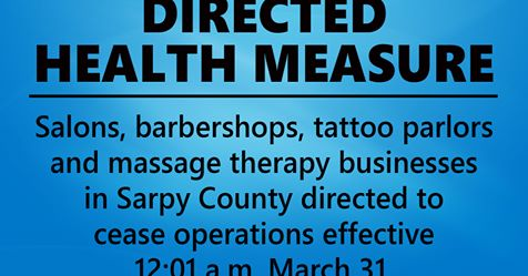 Updated Directed Health Measures Issued for Sarpy County